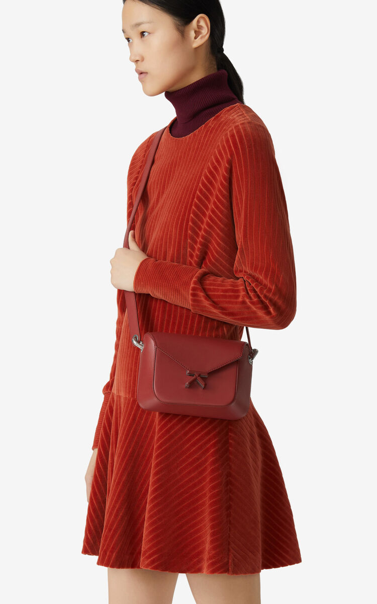 MOROCCAN BROWN KENZO K small leather crossbody bag for women