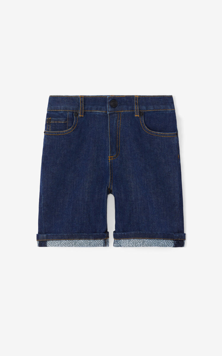 BLUE Denim shorts for women KENZO
