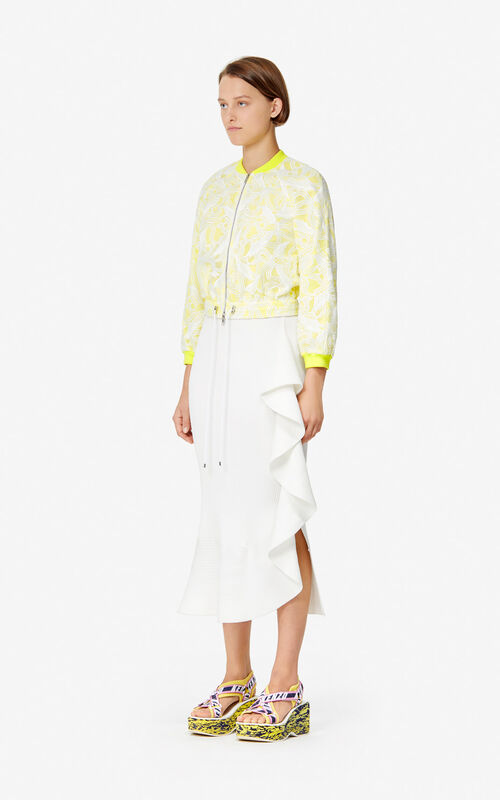 WHITE 'Flying Phoenix' short jacket 'High Summer Capsule collection' for women KENZO