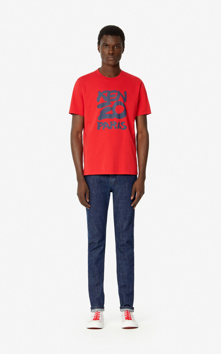 MEDIUM RED KENZO Paris t-shirt  for men