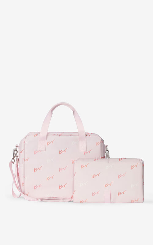 FADED PINK Diaper bag and mat for women KENZO
