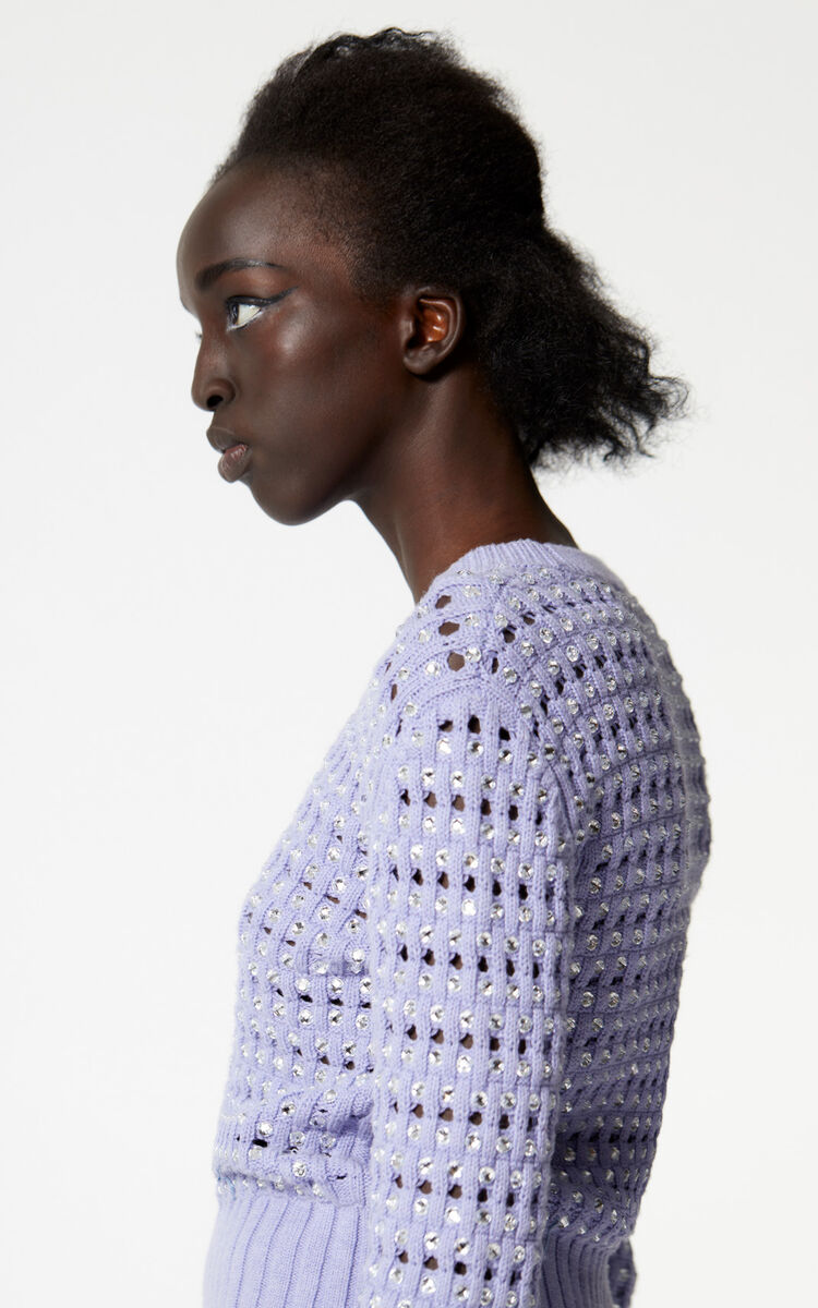 LAVENDER Jumper with embroidered beads for women KENZO