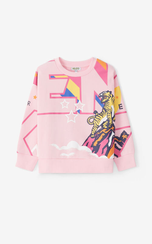 FLAMINGO PINK 'Ventura' sweatshirt for unisex KENZO