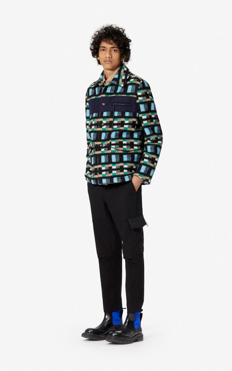 CYAN Checked Jacket for men KENZO