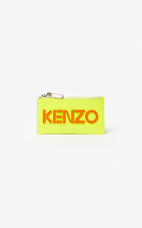 LEMON KENZO Logo leather card holder for men