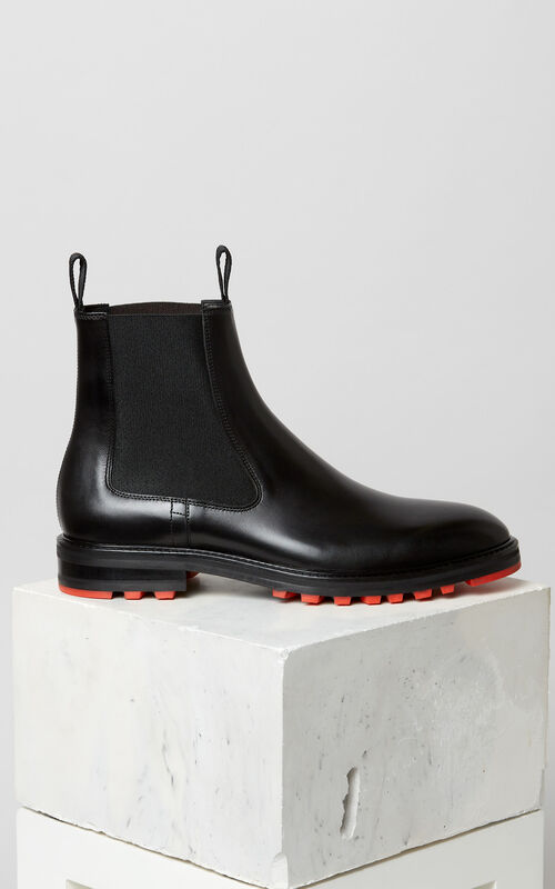 BLACK Georgia ankle boots for men KENZO