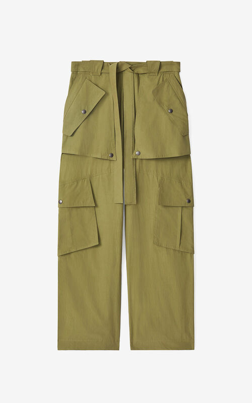 OLIVE Wide cargo trousers for unisex KENZO