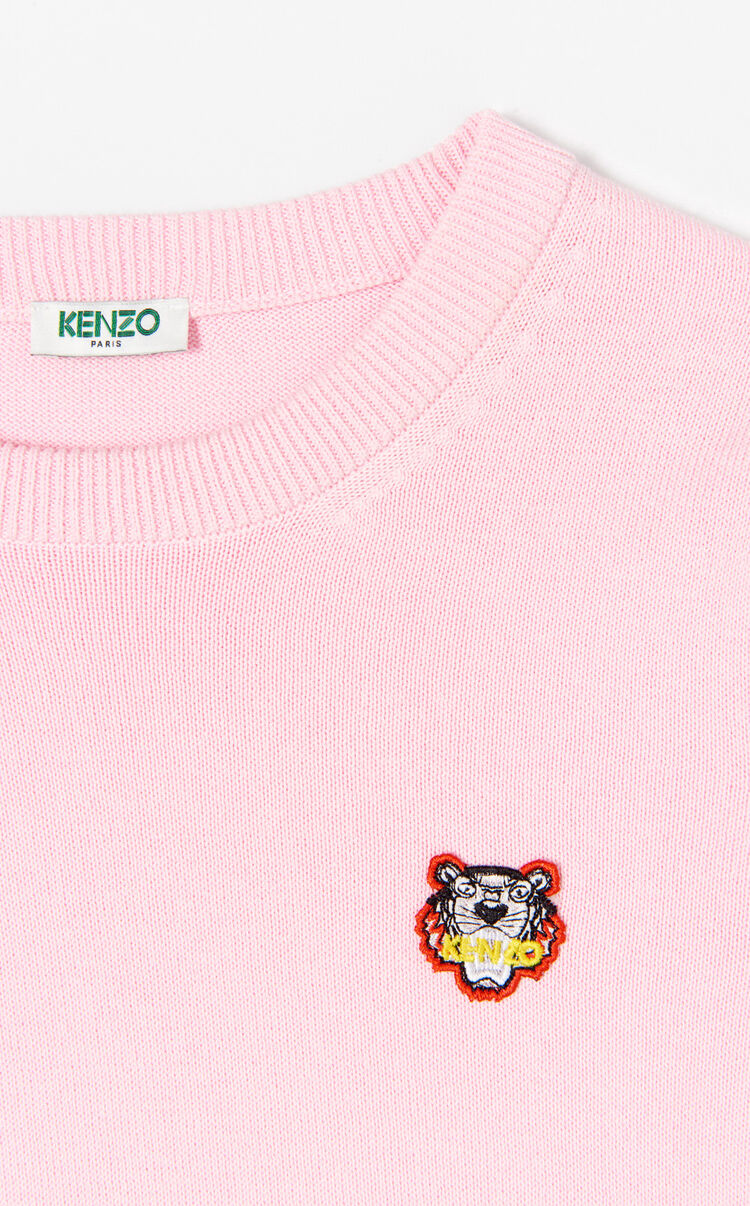 FLAMINGO PINK Two tone tiger jumper for women KENZO
