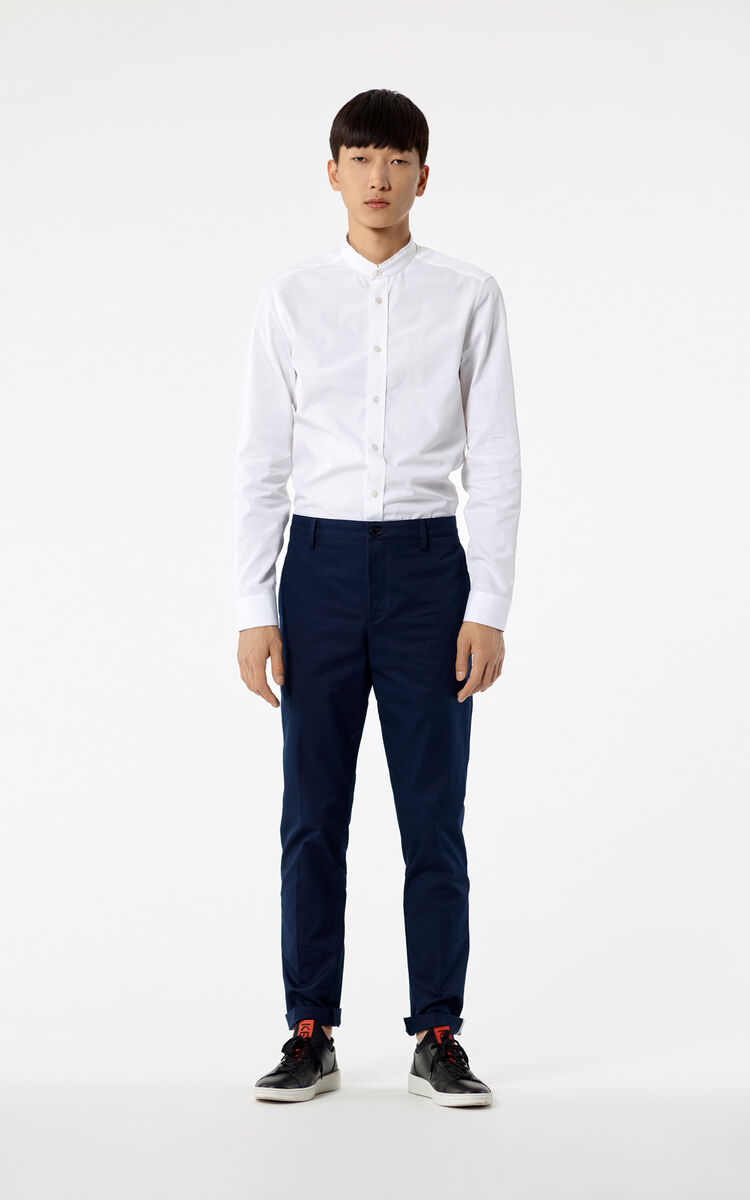 NAVY BLUE Relax chinos for women KENZO