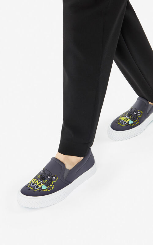 ANTHRACITE Tiger K-Skate slip-on shoes for women KENZO