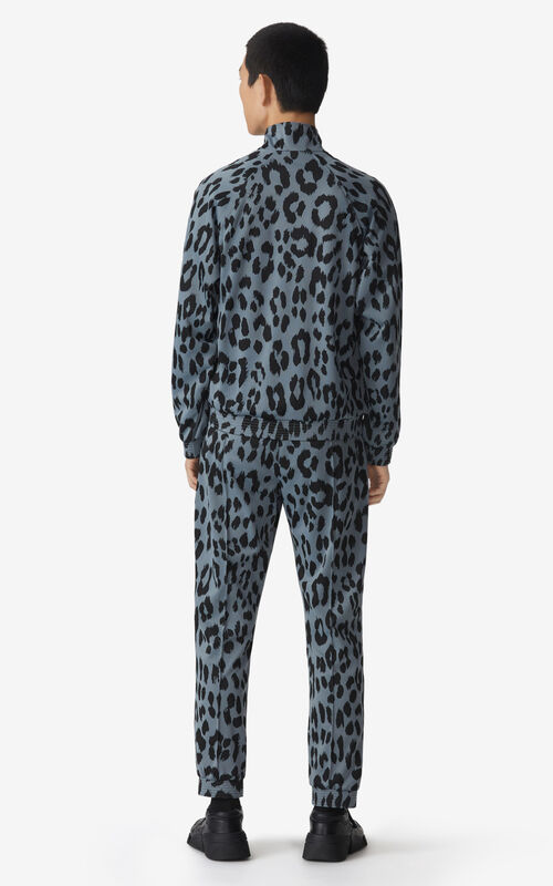 GLACIER 'Leopard' jacquard jacket for men KENZO
