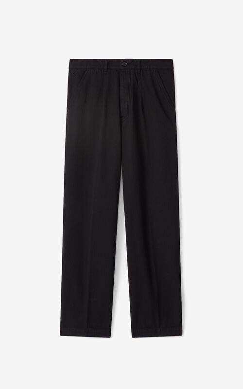 BLACK Chino trousers for unisex KENZO
