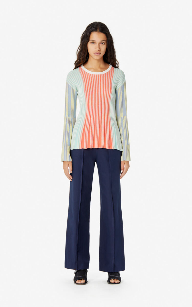 MULTICOLOR Iridescent pleated jumper for women KENZO