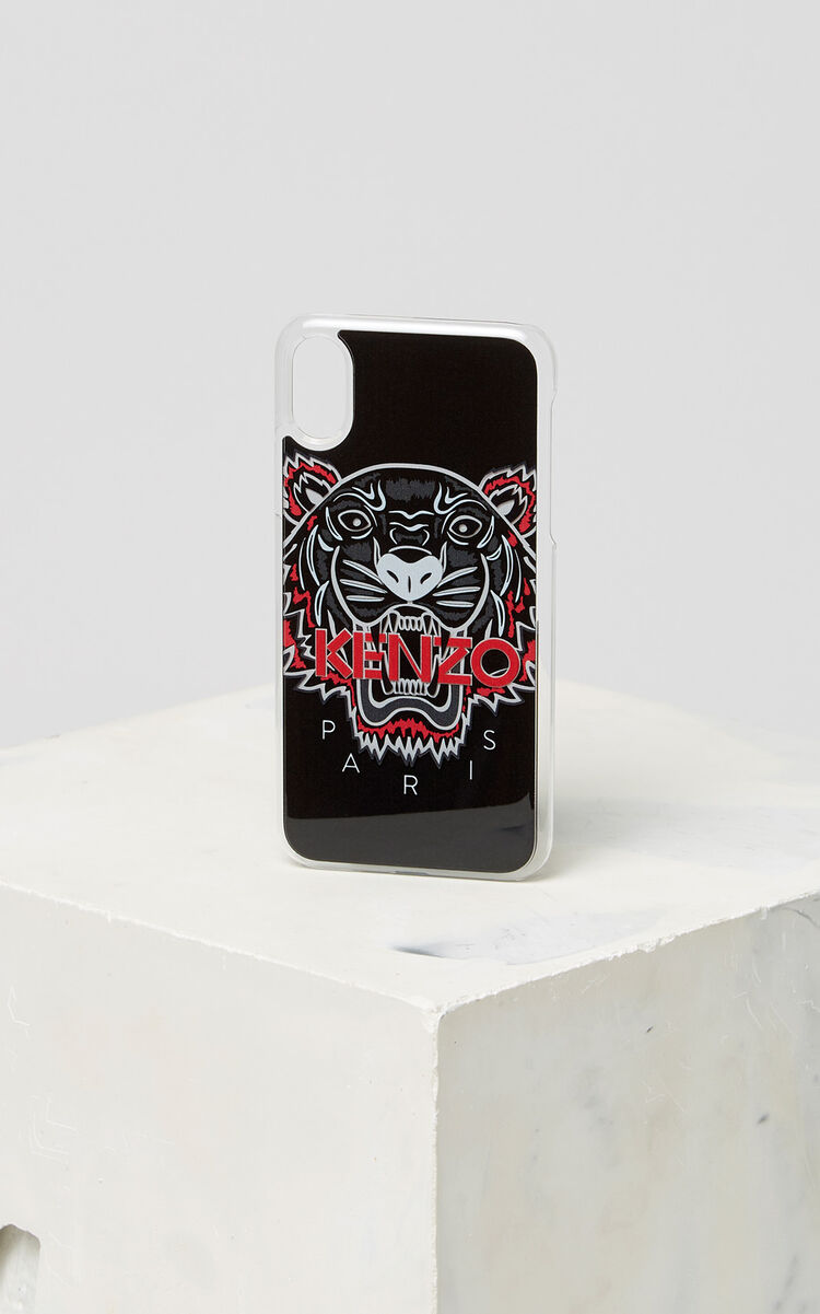 BLACK 3D Tiger iPhone X case for unisex KENZO