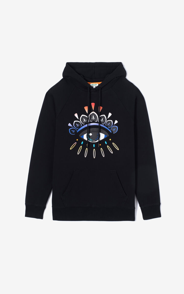 BLACK Eye hoodie sweatshirt with fade for women KENZO
