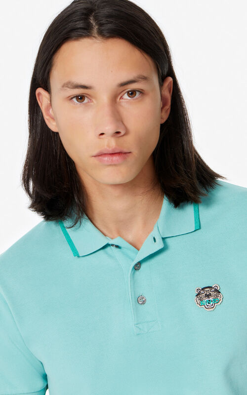 AQUA Fitted Tiger polo shirt for men KENZO