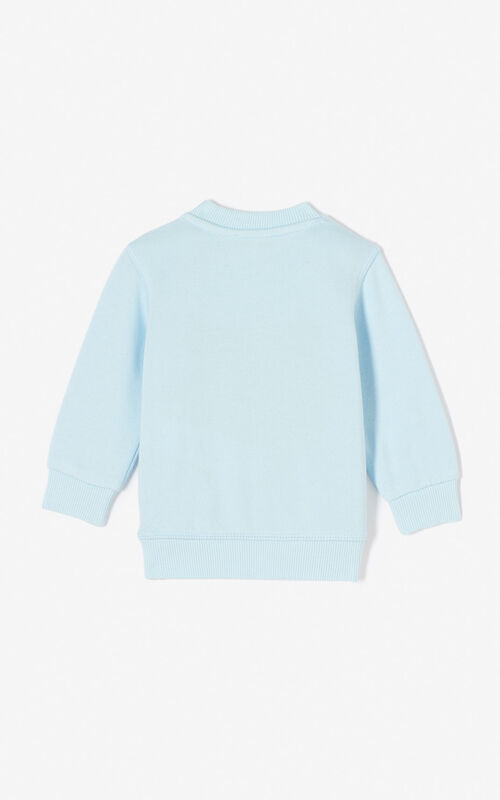 LIGHT BLUE Tiger sweatshirt for men KENZO