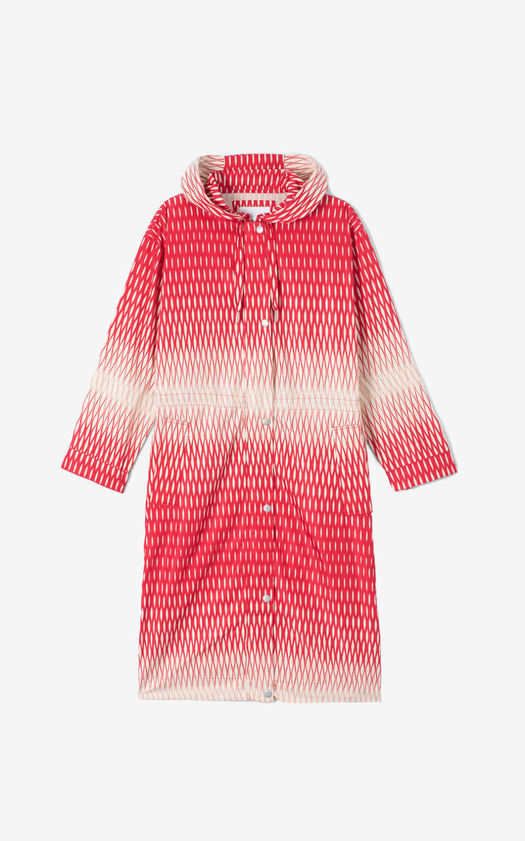 OFF WHITE Waterproof 'Fishnet' Parka for women KENZO