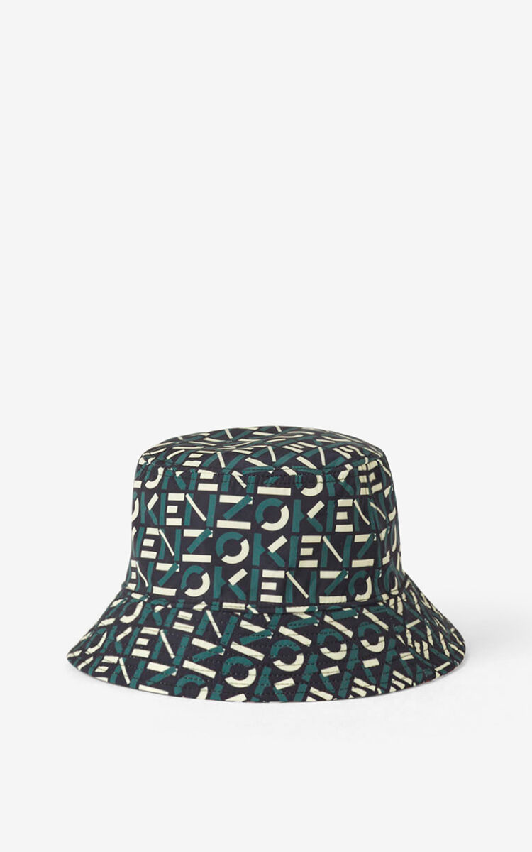 MEDIUM RED Reversible KENZO Sport monogrammed bucket hat for unisex