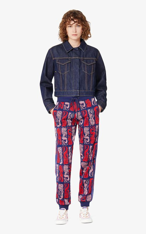 MIDNIGHT BLUE 'Mermaids' jogging trousers for women KENZO