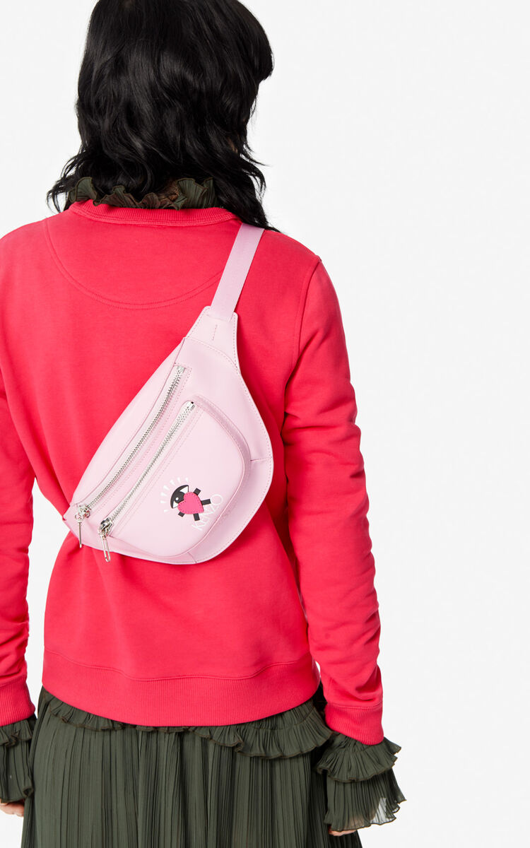 FLAMINGO PINK 'Cupid' belt bag for women KENZO