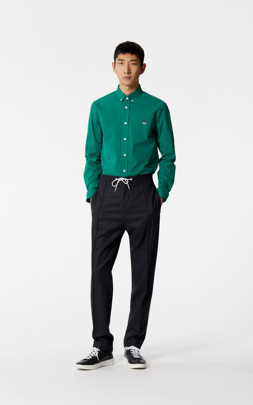 BOTTLE GREEN Tiger shirt for men KENZO