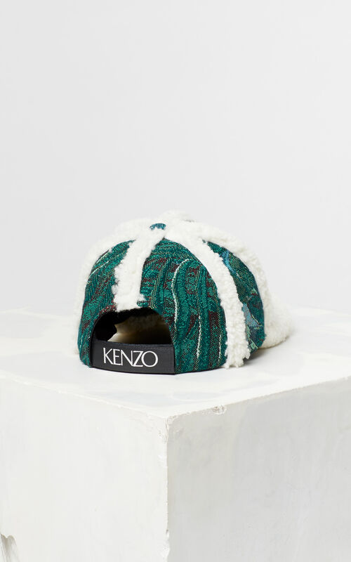 BOTTLE GREEN Jacquard baseball hat for unisex KENZO