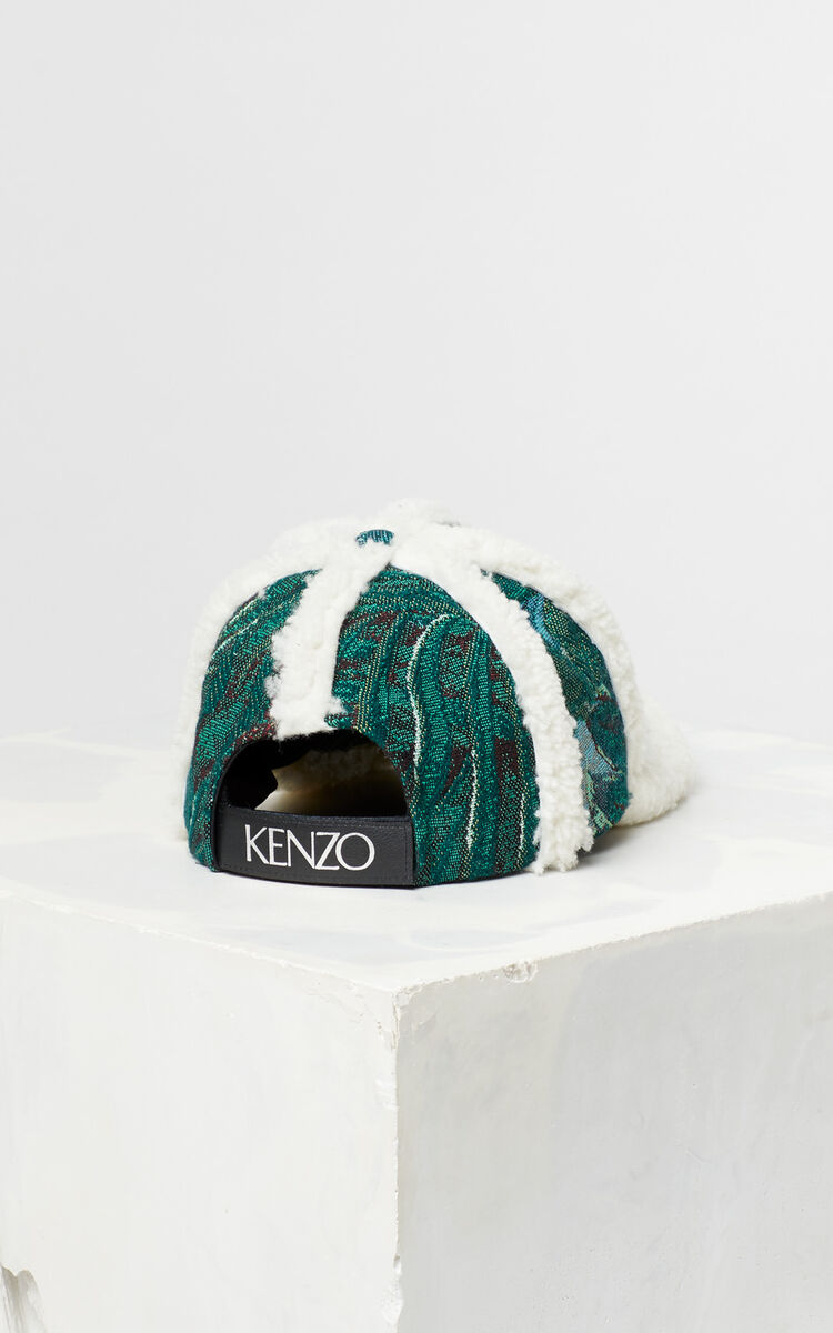 BOTTLE GREEN Jacquard baseball hat for women KENZO