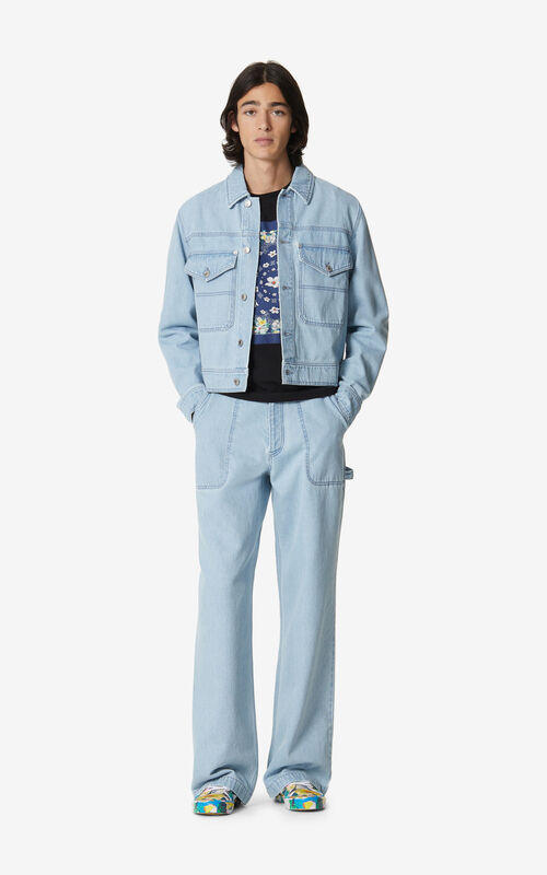 SKY BLUE Faded jeans for men KENZO