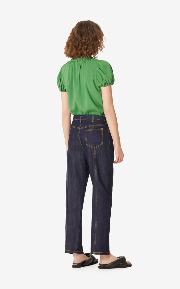 MIDNIGHT BLUE Carrot jeans for women KENZO