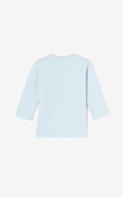 LIGHT BLUE Tiger t-shirt for women KENZO