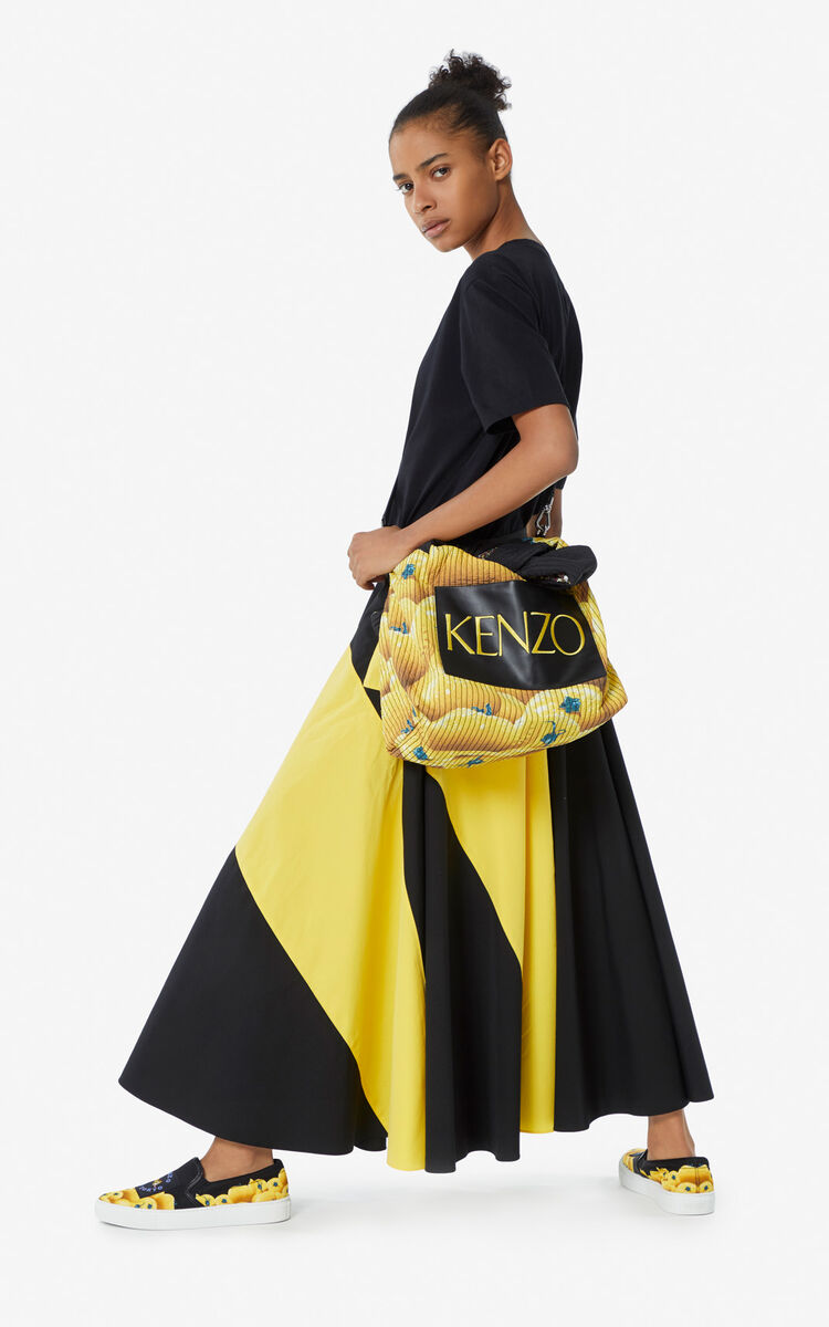BLACK Reversible knot bag for women KENZO