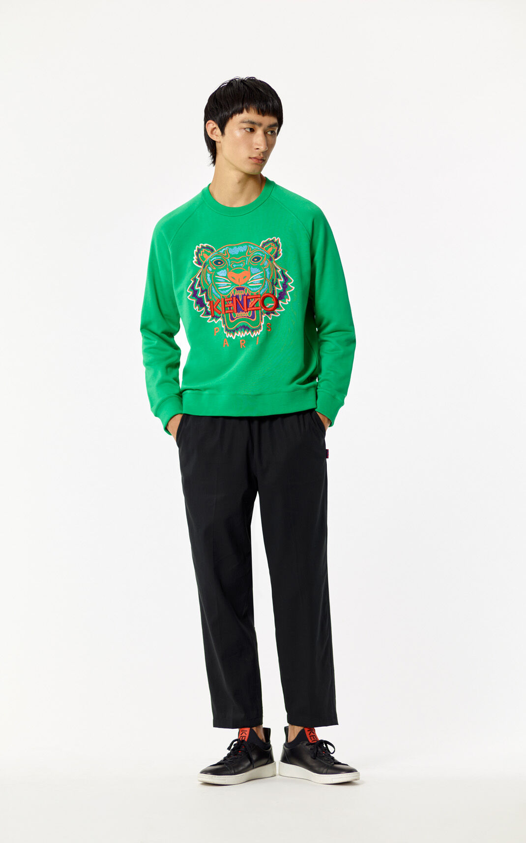 GRASS GREEN Tiger Sweatshirt for men KENZO