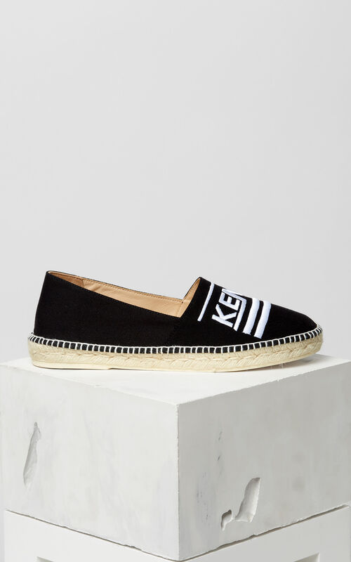 BLACK Slit espadrilles for men KENZO