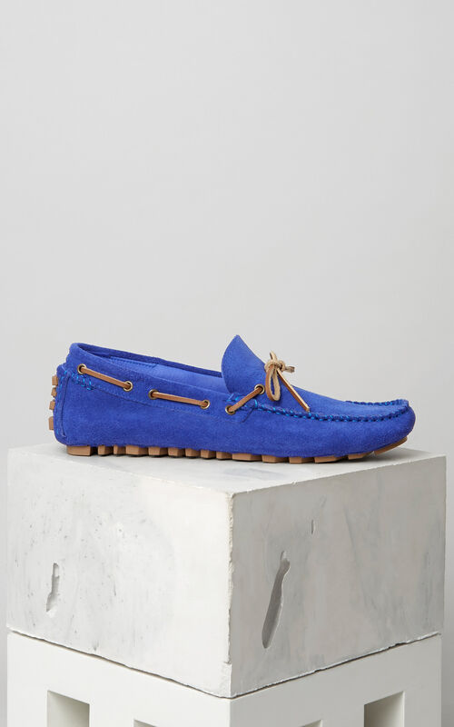 Suede Boat shoes, ROYAL BLUE, KENZO