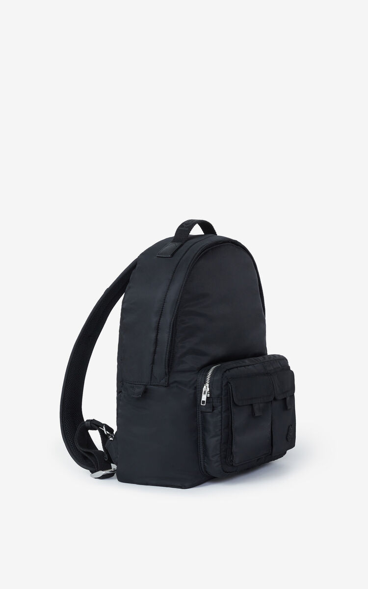 BLACK K-Konvert foldable rucksack for unisex KENZO
