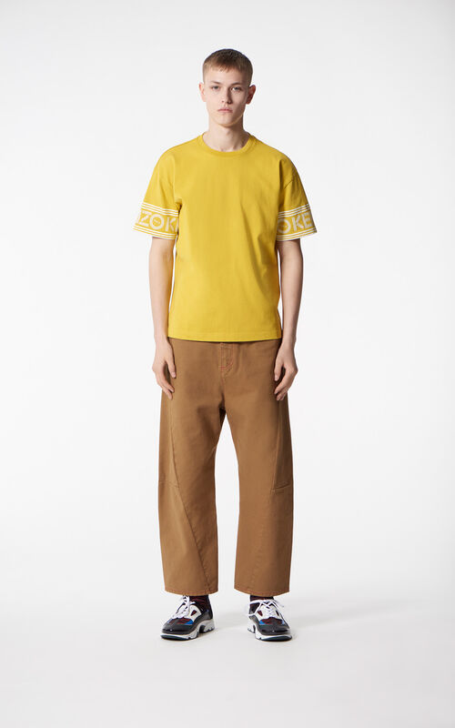MUSTARD KENZO Logo t-shirt for men