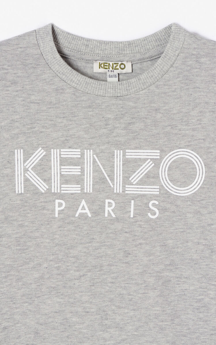 MISTY GREY KENZO logo T-shirt for men