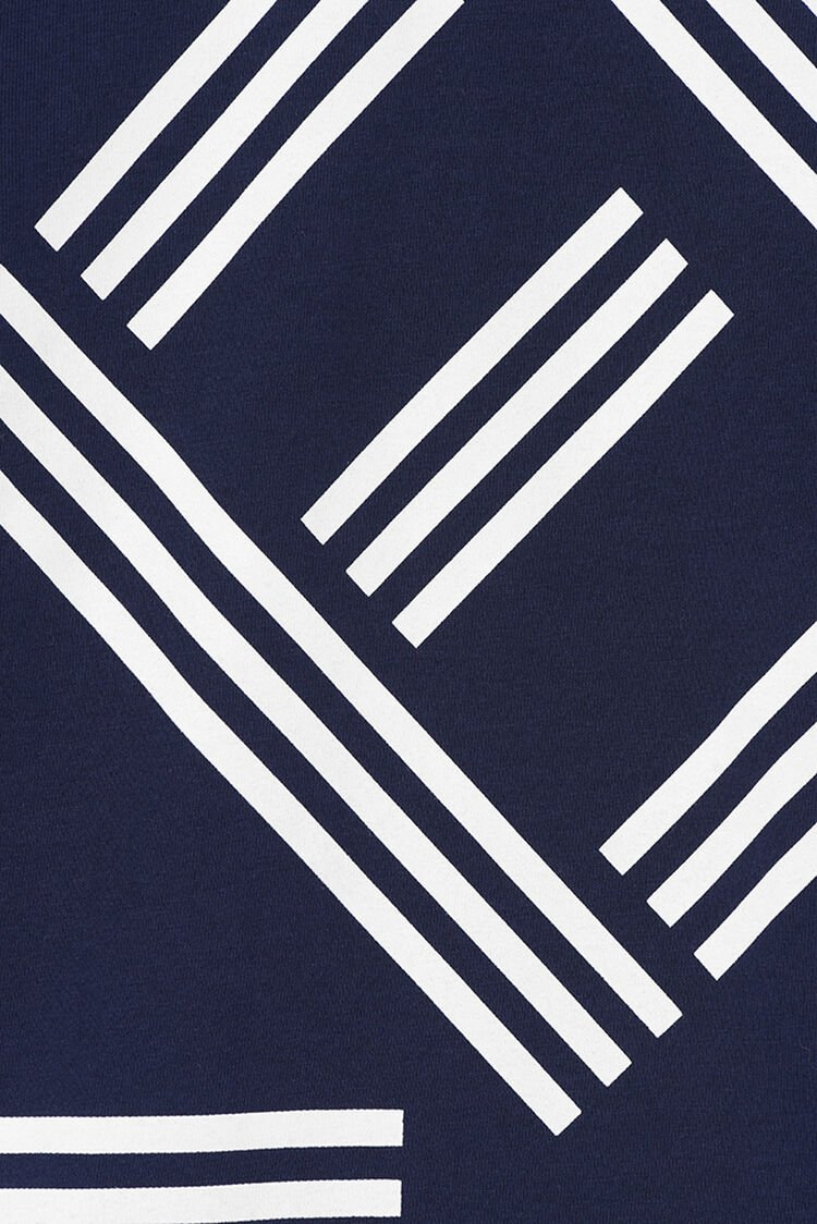 NAVY BLUE KENZO Logo T-Shirt for men