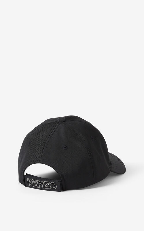 BLACK Kampus Tiger canvas baseball cap for men KENZO
