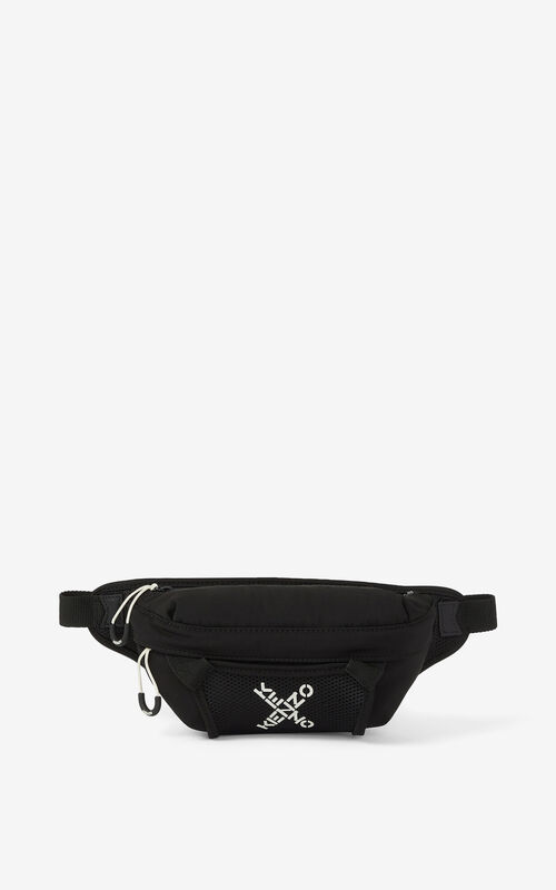 BLACK KENZO Sport small belt bag for unisex