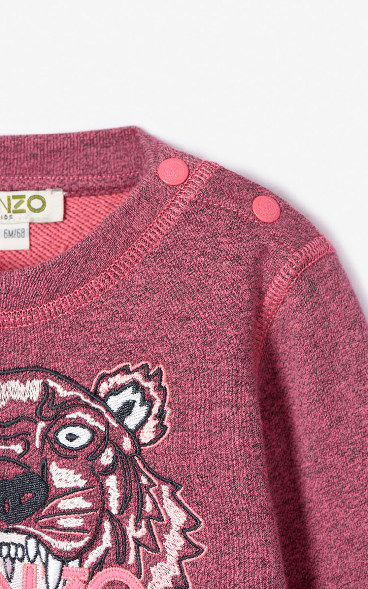 FLAMINGO PINK Tiger sweatshirt dress for unisex KENZO