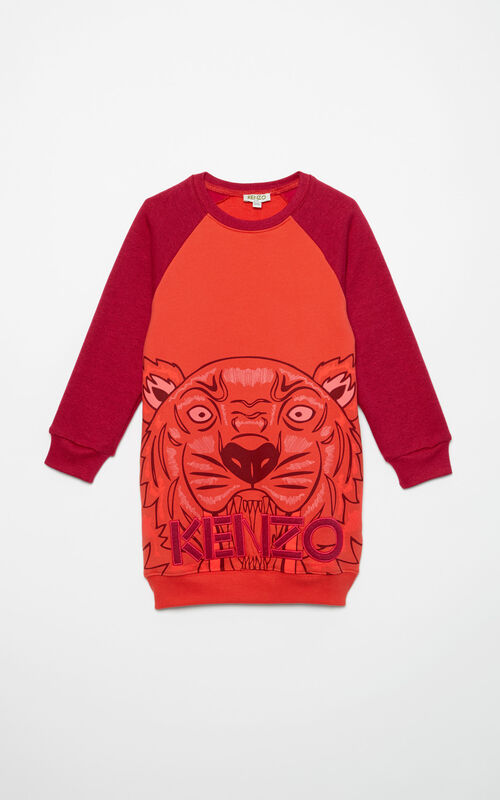 FIRE Maxi Tiger dress for women KENZO