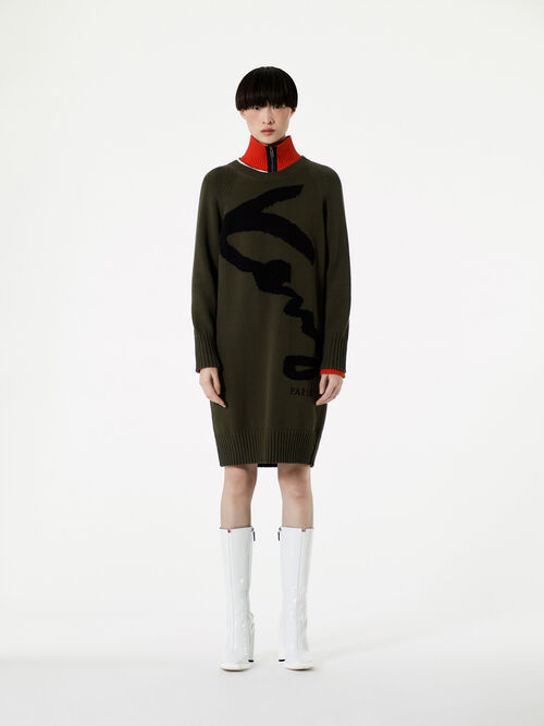 DARK KHAKI KENZO Signature Dress for women