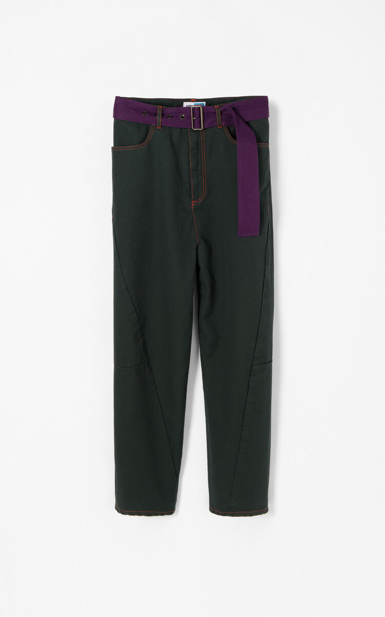 FERN Wid leg cropped pants for men KENZO