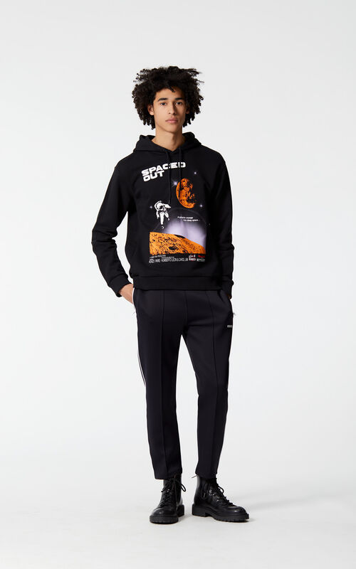 BLACK 'Spaced out' hoodie for men KENZO