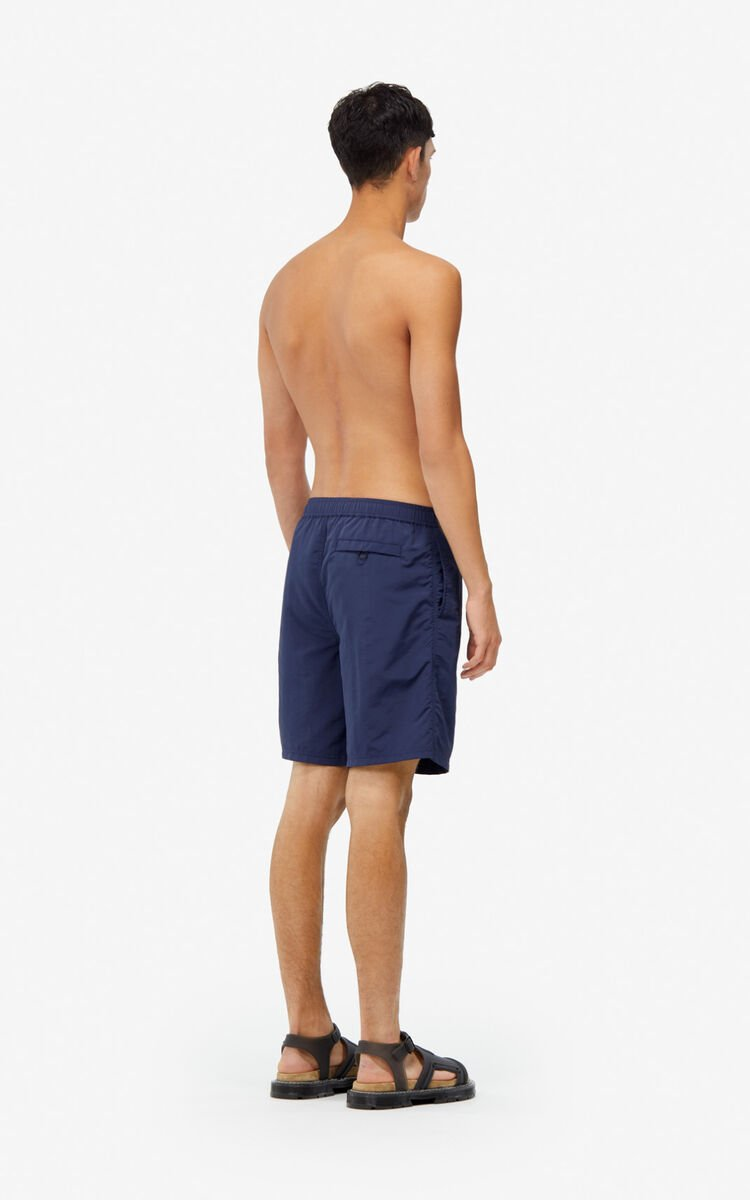 MIDNIGHT BLUE KENZO Logo swim trunks for women