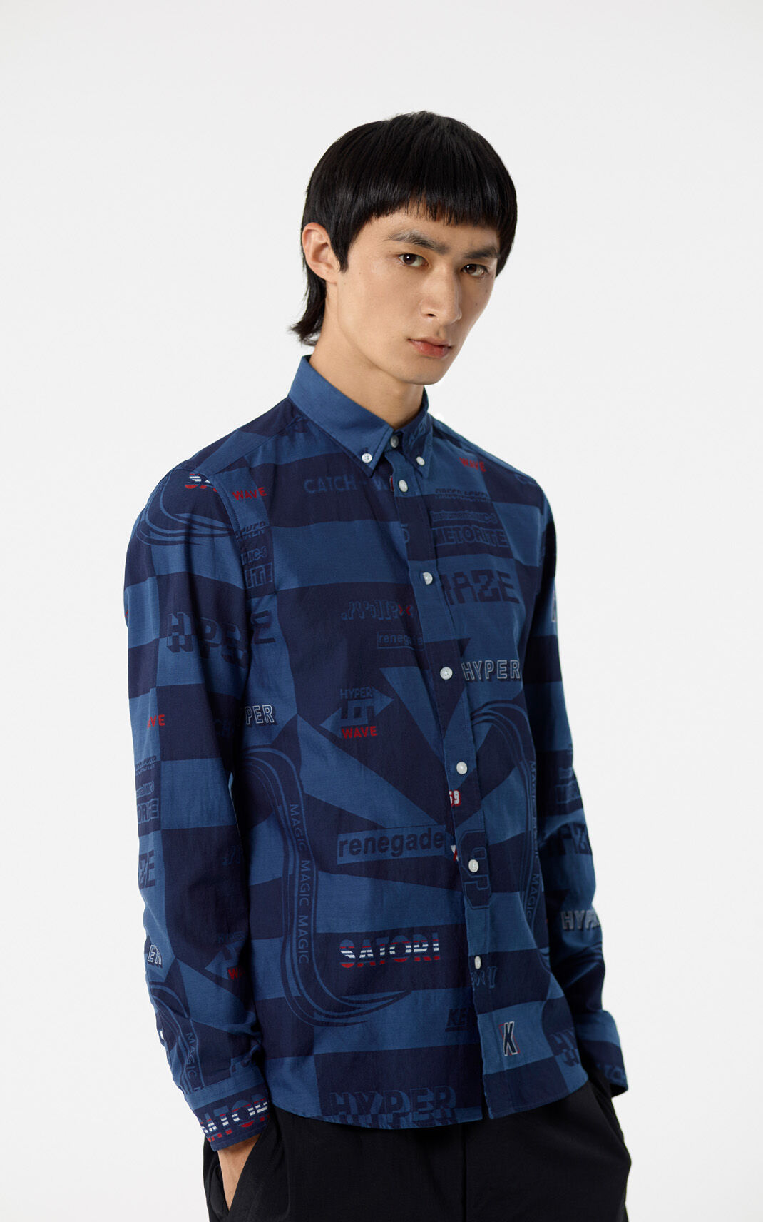 NAVY BLUE 'Hyper KENZO' shirt for men