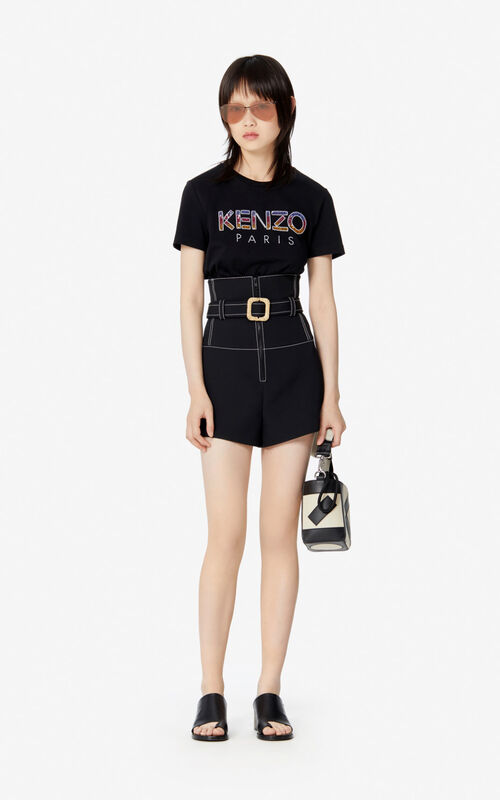 BLACK KENZO Paris t-shirt for women