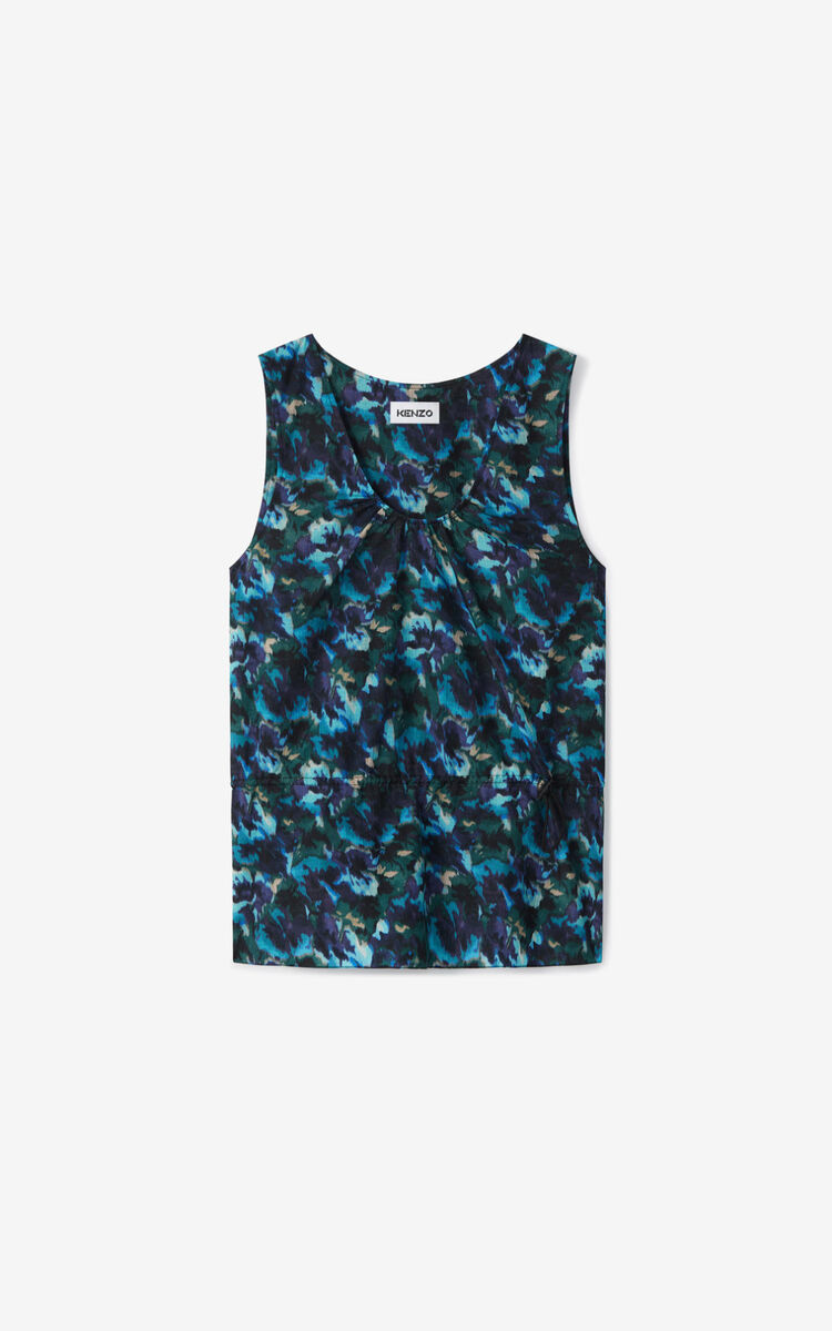 DUCK BLUE 'Aquarelle' top for women KENZO